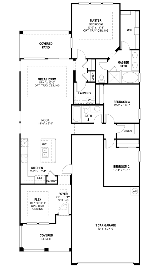 Cottonwood Floor Plan Lakeview Trails South